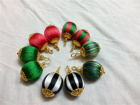 silk thread for beading how to wrap plastic bead using silk thread to make earring