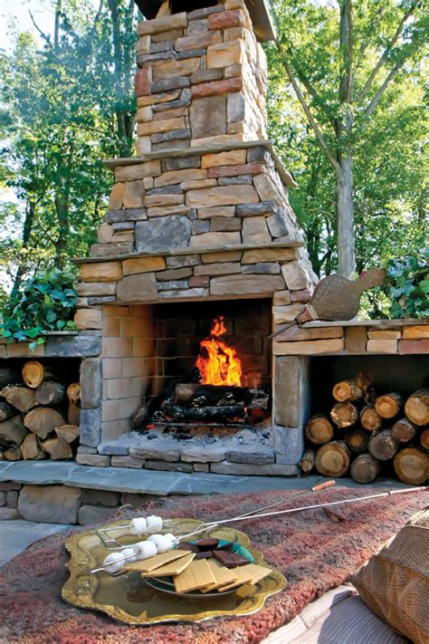 Outdoor Masonry Fireplace by Warm Up To Outdoor Living Fireplaces And Heaters Can Make