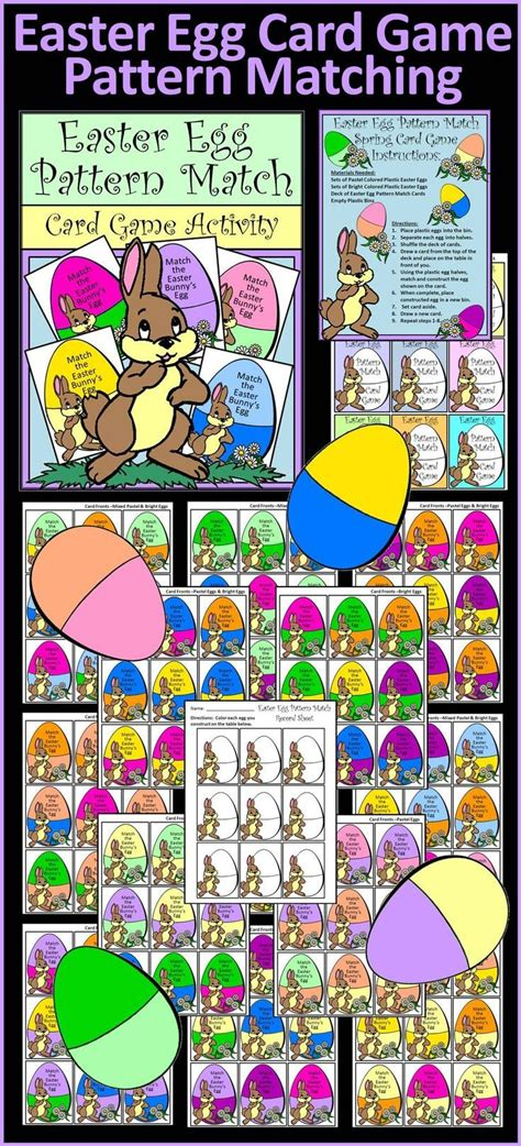 pattern matching board game 2959 best easter math ideas images on pinterest math