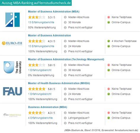 Und Mba Ranking by Mba Fernstudium Infos Anbieter Kosten Etc