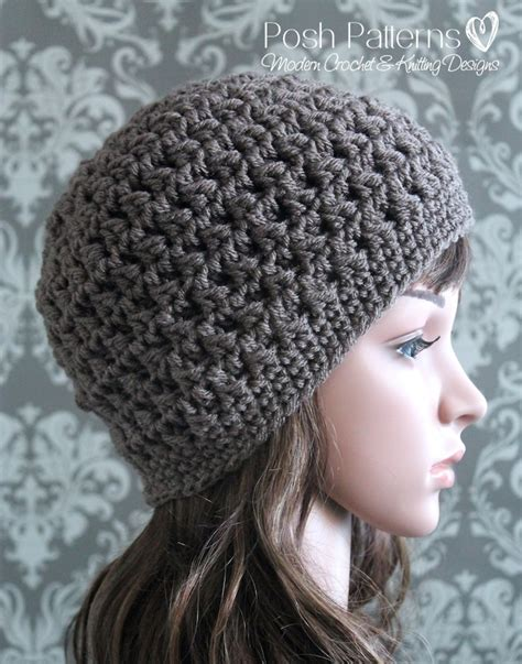 crochet hair look hat patterns crochet hat pattern cable cluster beanie