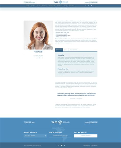 blogger templates for hospital valeo health center clinic hospital psd template by