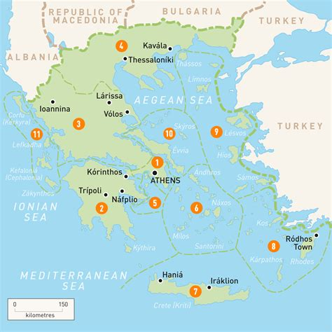 greece on map map of greece greece regions guides