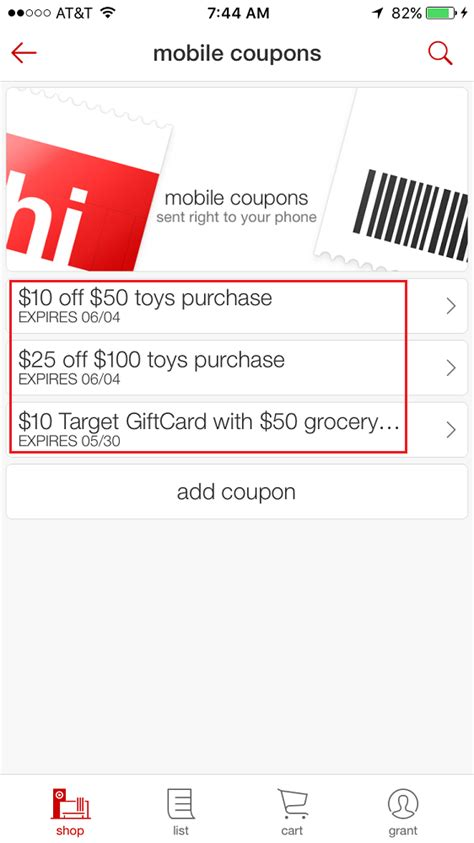Mobile Target Gift Card Account - target app coupons 10 target gift card with 50 grocery purchase expires today
