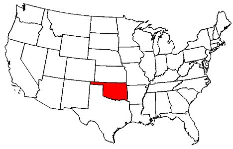 usa map with oklahoma oklahoma maps map of oklahoma