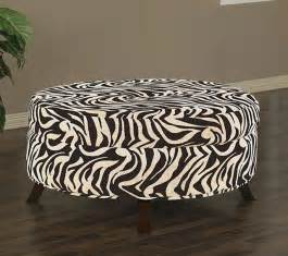 Animal Print Storage Ottoman Uptown Zebra Print Ottoman Contemporary Footstools And Ottomans By Overstock