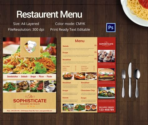 menu card template free psd restaurant menu template 45 free psd ai vector eps