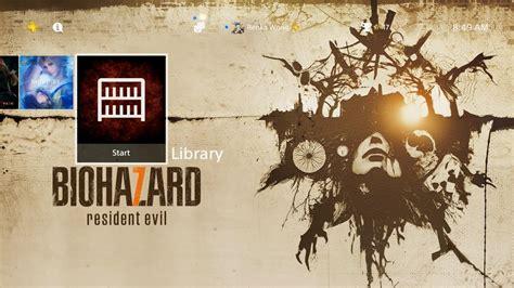 ps4 themes resident evil biohazard 7 resident evil ps4 theme youtube