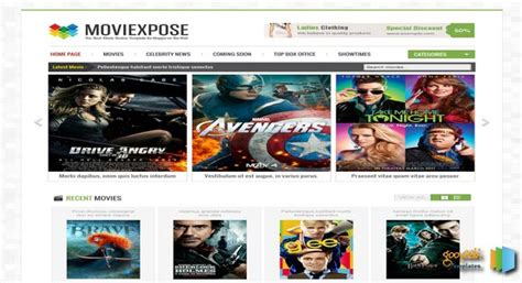 entertainment templates for blogger moviexpose responsive blogger template free graphics