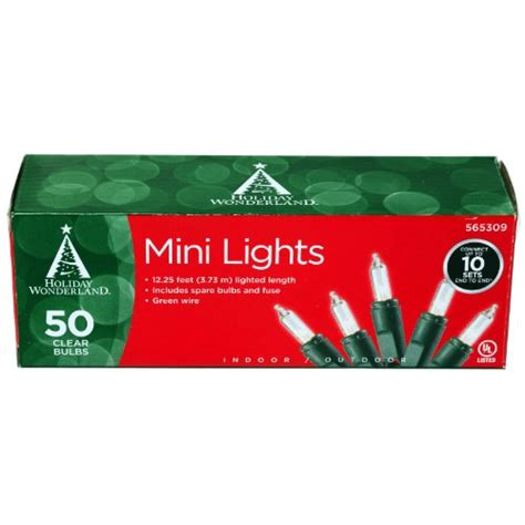 50 count christmas lights 50 count clear christmas light set 5ive dollar market