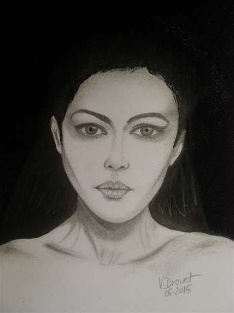 monica bellucci portrait dessin portrait monica bellucci