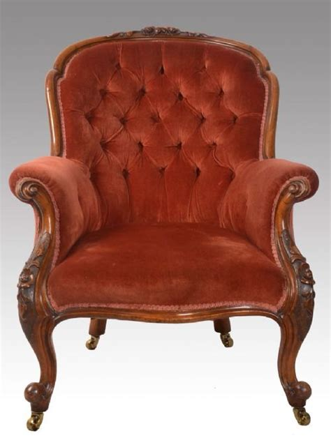 vintage armchairs uk victorian walnut framed armchair 257229
