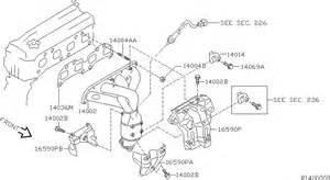 Nissan Versa Exhaust System Diagram 2003 Nissan Altima Sedan Oem Parts Nissan Usa Estore