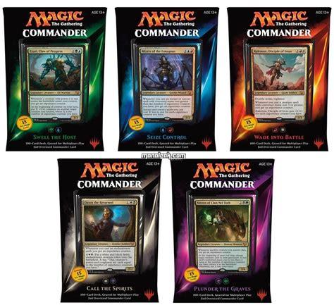 magic decks magic commander deck 2015 set of all 5 decks factory