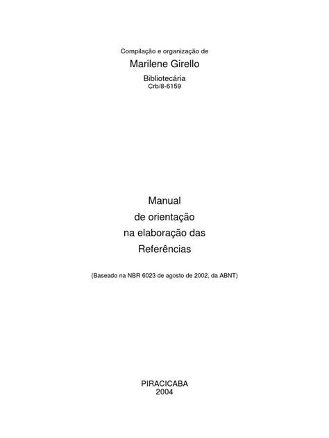 Manual de Referências - Abnt | Citação | Livros