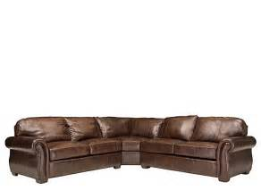 Leather Sectional Sleeper Sofas Emery 3 Pc Leather Sectional Sofa W Sleeper Sectional Sofas Raymour And Flanigan