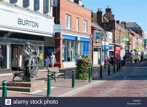 houses to buy in sittingbourne the bargeman statue sittingbourne high street sittingbourne kent stock photo