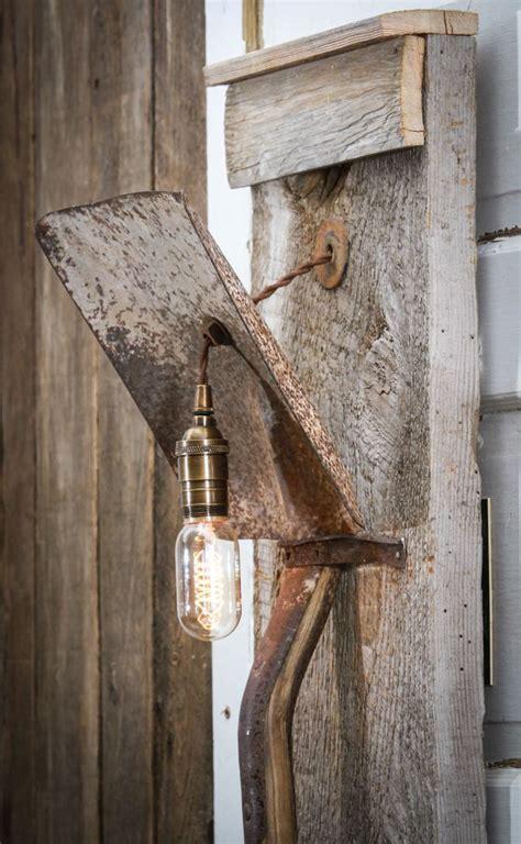 lamp     shovel  barn wood wall lampbarn