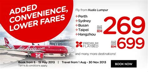 airasia low fare air asia added convenience low fares promotion fly to