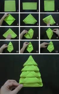 napkin folding christmas tree marmite et ponpon
