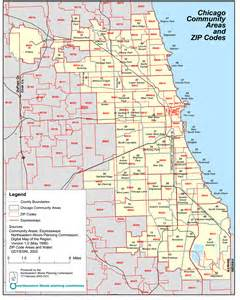 Chicago Area Codes Map by Chicago Zip Code Map Locate Chicago Neighborhoods Chicago