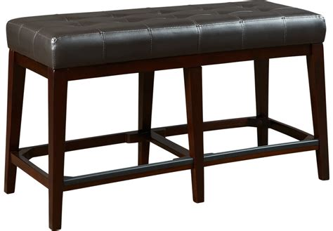 tall bench seat julian place chocolate counter height bench benches dark
