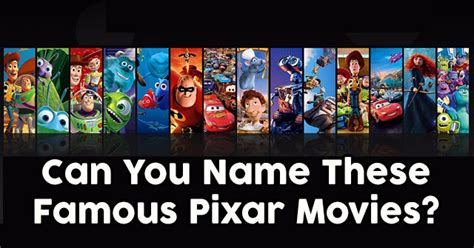 quiz film pixar can you name these famous pixar movies quizpug
