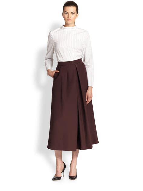 culottes tome 1 2070601382 tome wide leg culottes in red lyst