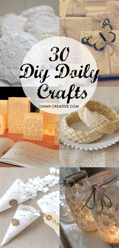 diy crafts 30 diy doily crafts oh my creative