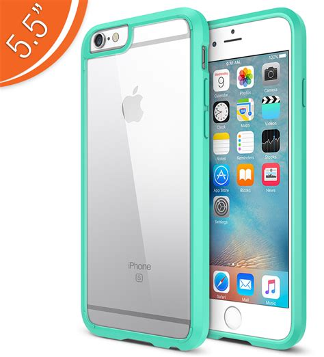 trianium clear cushion for iphone 6s plus iphone 6 plus 5 5 inches turquoise
