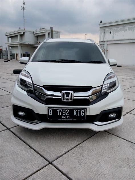Jual Honda Mobilio Rs At 2016 honda mobilio rs cvt matic 2016 putih km 10 rban