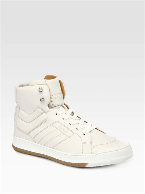 bally sneakers sale bally odar67 hitop sneakers in white for lyst