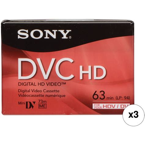 cassetta mini dv sony dvm 63hd 63 minute mini dv hd cassette set of
