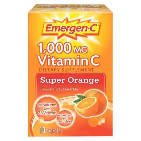 c energy drink mix emergen c 174 vitamin c dietary supplement drink mix