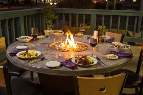 diy pit dining table introducing firepit tables a fiery combination of functions