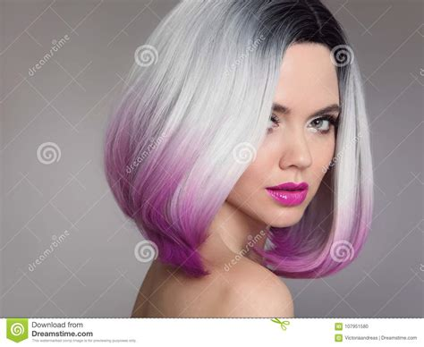 colored ombre colored ombre hair extensions model