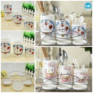 Souvenir Tempat Bumbu Dapur tempat sendok keramik doraemon tempat sendok keramik