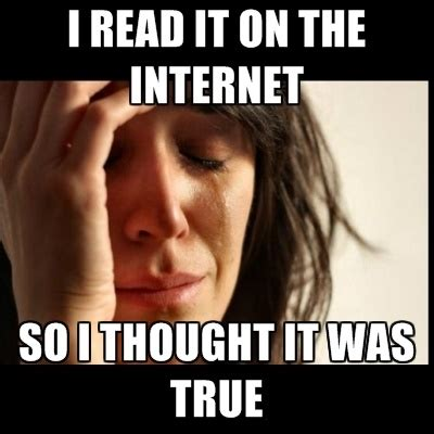 Everything On The Internet Is True Meme - how to avoid being fooled by an internet hoax