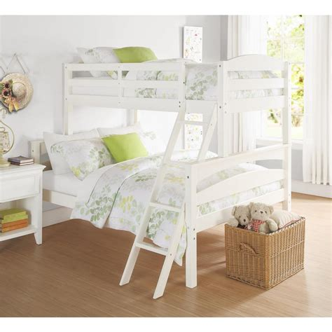 White Wooden Bunk Beds For Sale Dorel Brady White Wood Bunk Bed Fa6940w The Home Depot