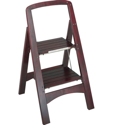 Two Step Stool by Rockford Two Step Step Stool Mahogany In Step Stools