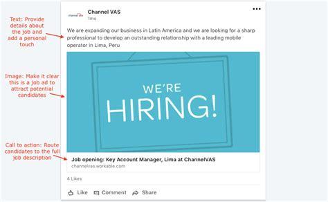 Linkedin Job Posting Template Workable Posting Template