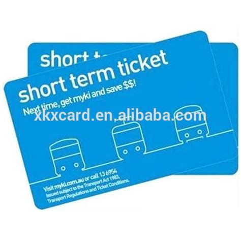 alibaba ticket plastic short term ticket card parking card with rfid or