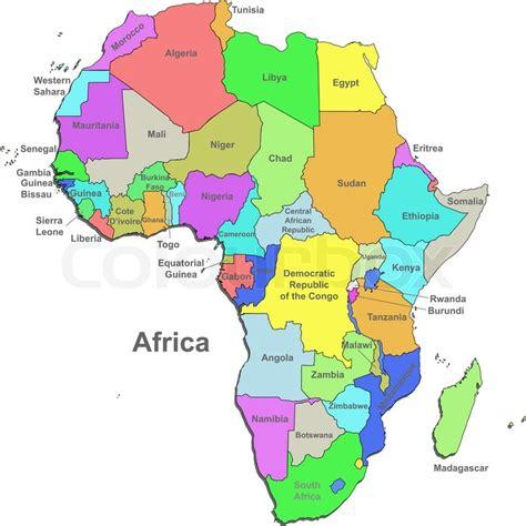 africa map 2016 vektor politisk kort afrika med lande p 229 en hvid