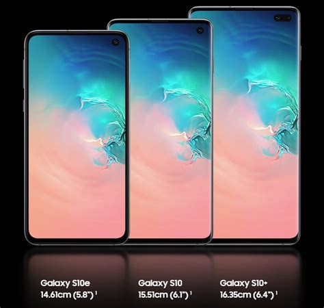 what is the difference between galaxy s10 galaxy s10 plus and galaxy s10e