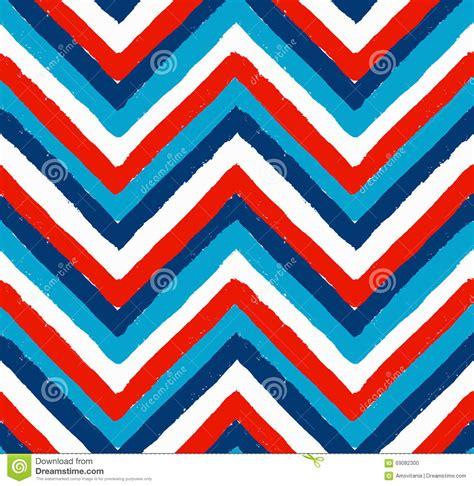 pattern brush zig zag blue white red painted chevron pattern stock vector