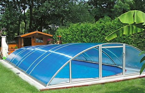 covered swimming pool polycarbonate application excelite