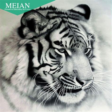 tattoo fixers diamond tiger aliexpress com buy meian full diamond embroidery animal