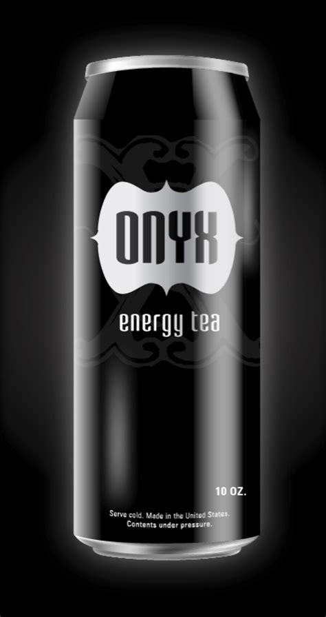 energy drink in black can make a sleek and refreshing vector energy drink