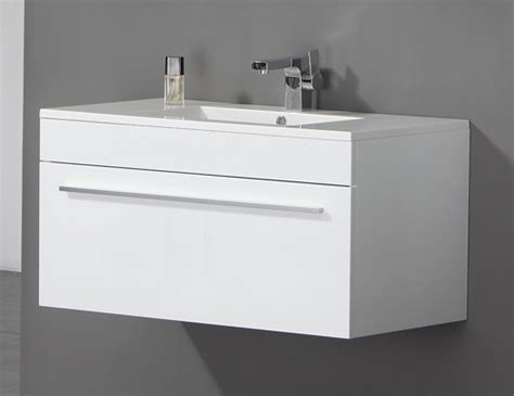 wall hung wood bathroom sink basin cabinet vanity unit ebay