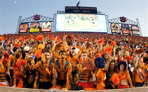 best college student sections auburn student sections in college football espn
